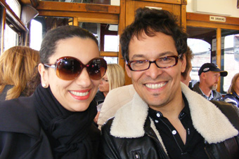 Aline Calixto y Frank Madrid